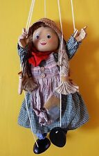 Tellon Collection String Marionette Wooden Puppet Girl with Jump Rope Doll 16""