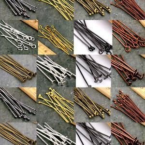 Lots-50-200Pcs-Eye-Pins-Flat-Head-Pins-Ball-Pins-Needles-Findings-DIY-16-60mm