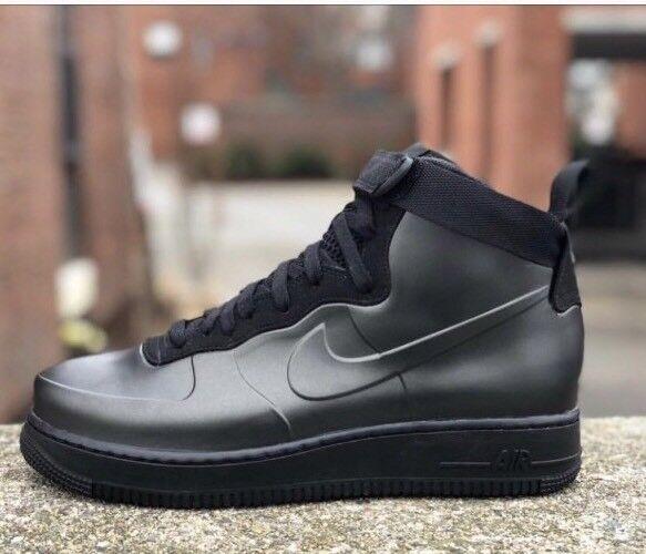 Nike air force 1 foamposite tazza Uomo 8 triple stivali neri ah6771-001 nuova