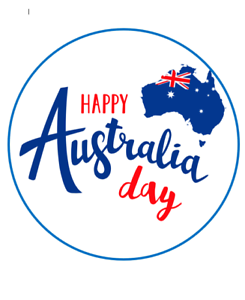 Australia Day edible Image cake topper real edible icing 19cm #137