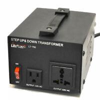 NEW LiteFuze LT-750 Voltage Converter Transformer Heavy Duty Step Up/Down 750W