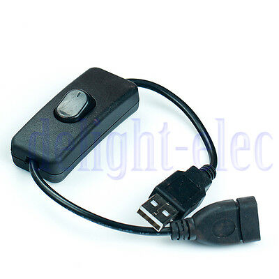 USB Cable Male to Female Switch ON OFF Toggle for Raspberry Pi Arduino DE