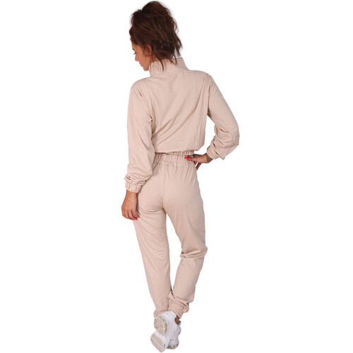 2tlg Damen Glitzer Trainingsanzug Jogginganzug Sportanzug Hausanzug Gold Sport