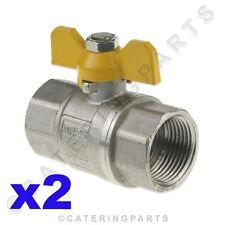"2 x 1"" INCH FEMALE BSP TAPER BUTTERFLY ISOLATOR GAS SHUT OFF ON VALVE ISOLATING"