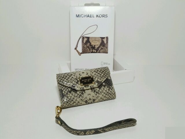 d42a0094fd08 Michael Kors Natural Python Wallet Clutch iPhone 3gs 4 4s Case for ...