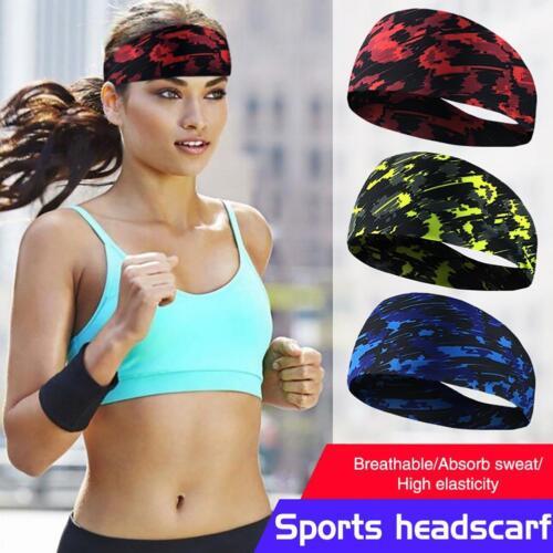 Men Women Stretchy Yoga Sport Sweat Sweatband Gym Running Fitness Headband Wrap