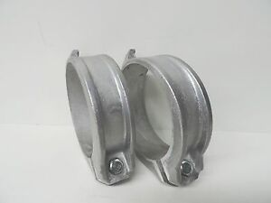 "NEW Custom Aluminium Coupling 100mm 4"" Locking Ring (QTY 2) with bolt and nut"