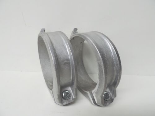 NEW Custom Aluminium Coupling 100mm 4 Locking Ring (QTY 2) with bolt and nut