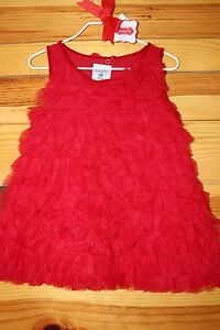 c9114824f Mud Pie Red Chiffon Rosette Tulle Party Dress Gorgeous! NWT Girls 2T ...