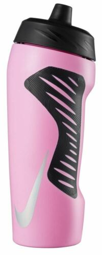 Nike Hyperfuel Water Bottle 18oz Pink Rise//Black//Black//Iridescent