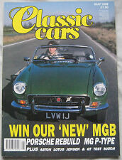 Classic Cars 05/1989 featuring Jensen, Lotus Elan, Ford Capri, Reliant, MG,Volvo