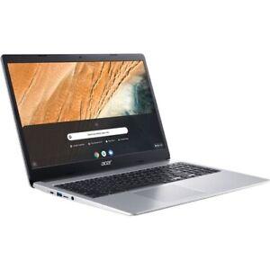Acer 315 15.6  Chromebook Intel Celeron N4020 4GB RAM 32GB eMMC Pure Silver - In
