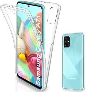 Pour Samsung Galaxy A71 - Coque Gel 360 avant+Arrière Protection INTEGRALE