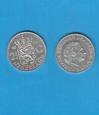 § PAYS-BAS NETHERLANDS 2,50 Gulden  1961  Silver Coin