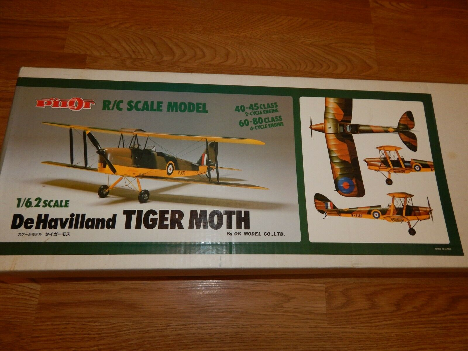 Pilot  DeHavilland Tiger Moth  1 6.2 Scale Kit  AWESOME CONDITION