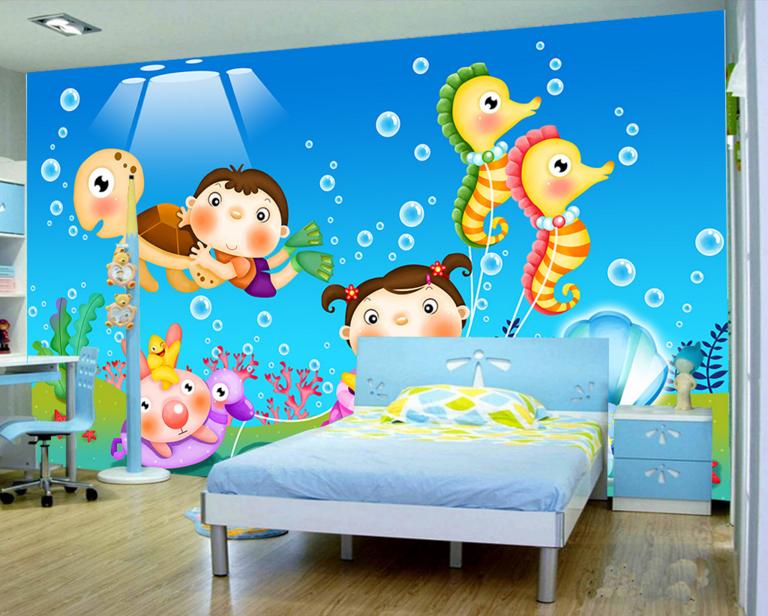 Papel Pintado Mural De Vellón Para Animales Mar Para Vellón Niños 3 Paisaje Fondo Pantalla 755dc9