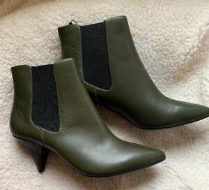 Marks & Spencer M&S Khaki Green Leather