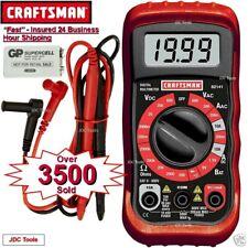 New Craftsman Digital Multimeter Volt Ac Dc Tester Meter Voltmeter Ohmmeter