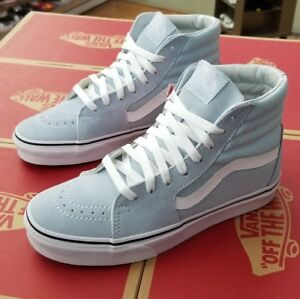 44c04f786907 VANS SK8-HI VN0A38GEQ6K BABY BLUE TRUE WHITE MEN SZ 7.5 ( WOMEN 9 ...