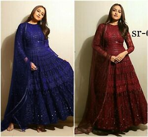 Indian Pakistani Wear Salwar Kameez Suit Anrakali Dress Embroidery Shalwar New