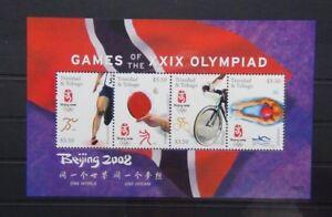 Trinidad-amp-Tobago-2008-jeux-olympiques-de-Pekin-miniature-feuille-neuf-sans-charniere