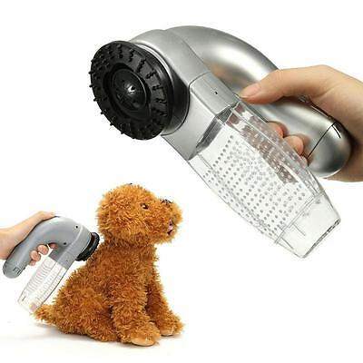 Electric Pet Vacuum Cleaner Dog Cat Fur Hair Remover Puppy Trimmer Grooming Tool
