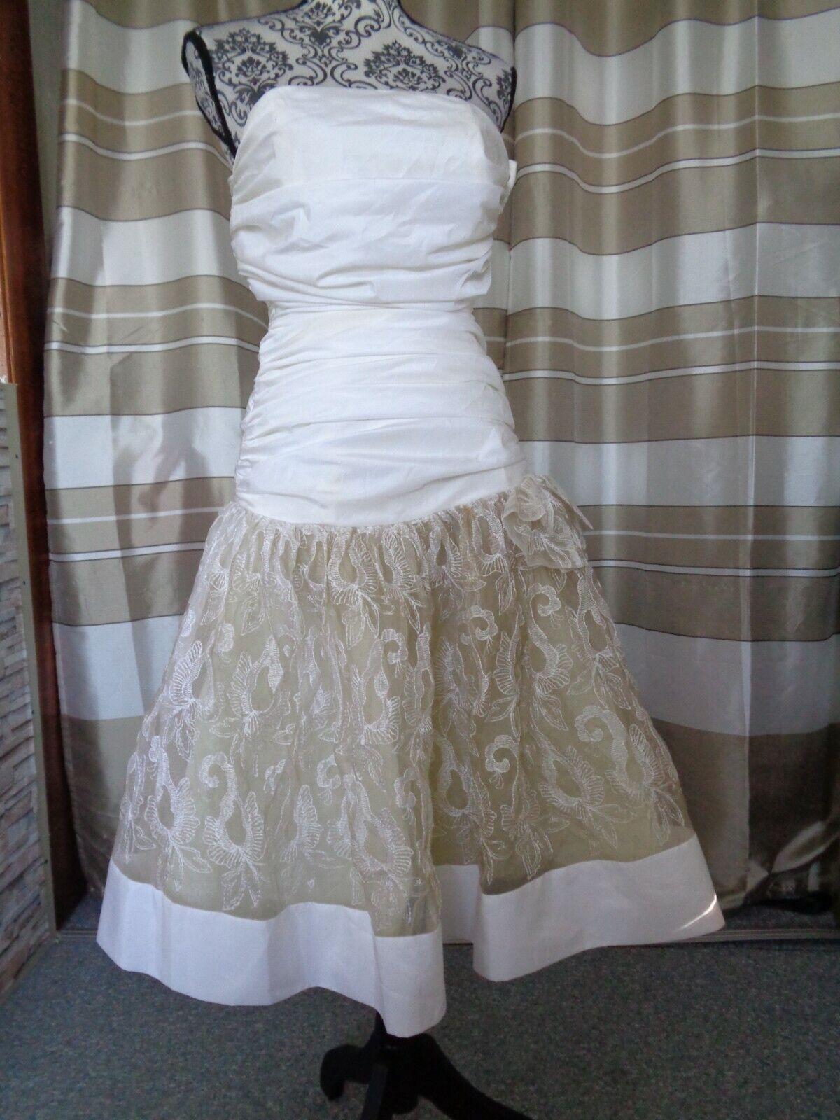 (51)Edles Damen Braut Standesamt Abend Kleid GR: 34