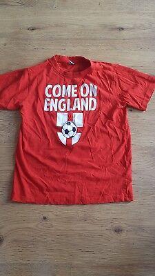 """""""vieni England"""" Red T-shirt. Taglia 11-12 Anni-mostra Il Titolo Originale"""