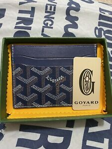 GOYARD-Royal-Blue-Saint-Sulpice-Card-Holder-Wallet