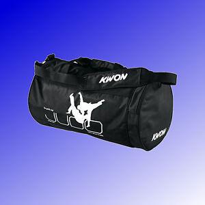 KWON-Sporttasche-Training-Team-Fitness-Tasche-small-klein-Judo-schwarz-Nylon
