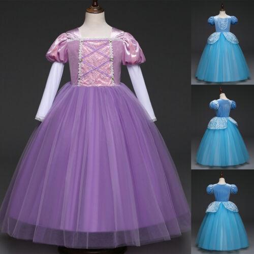 Princess Cinderella Cosplay Costume Kids Girls Halloween Party Fancy Dress Gift