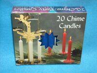 Christmas Angel Chime Candles, Dark Blue, Box Of 20, Nib, 1/2 By 4 Tall