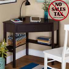 Corner Office Desk Home Laptop Workstation Writing Table Computer Wood Furniture