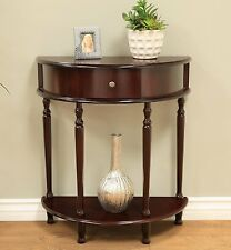 """NEW DECORATIVE HALF MOON TABLE WITH DRAWER FOYER LIVING HALL CHY FINISH 28"""""""
