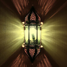 Orientalische Wandlampe Wandleuchte Marokkanische Lampenschirm Sultania Grün