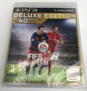 Genuine-FIFA-16-Deluxe-Edition-PS3-Sigillato-Nuovo-di-Zecca-veloce-spedizione-gratuita
