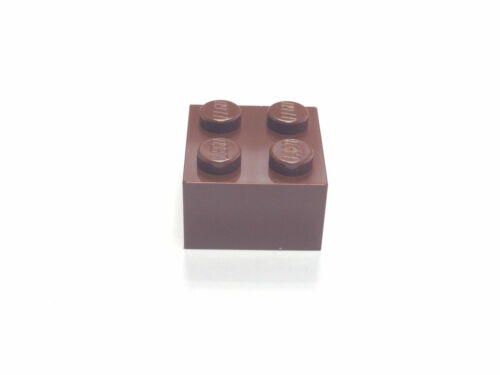 Part No New Lego Reddish Brown 2 x 2 Brick 3003 Pack of 10