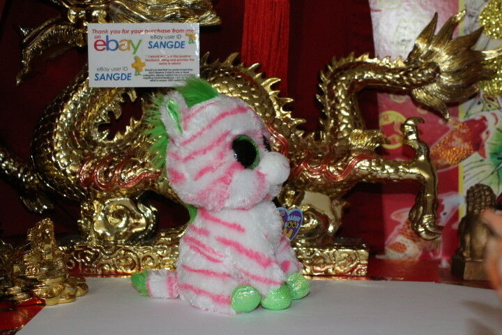 TY TY TY BEANIE BOOS SAPPHIRE THE ZEBRA.6 .2012.JUSTICE EXCLUSIVE.MWNMT.NICE GIFT 6779a4