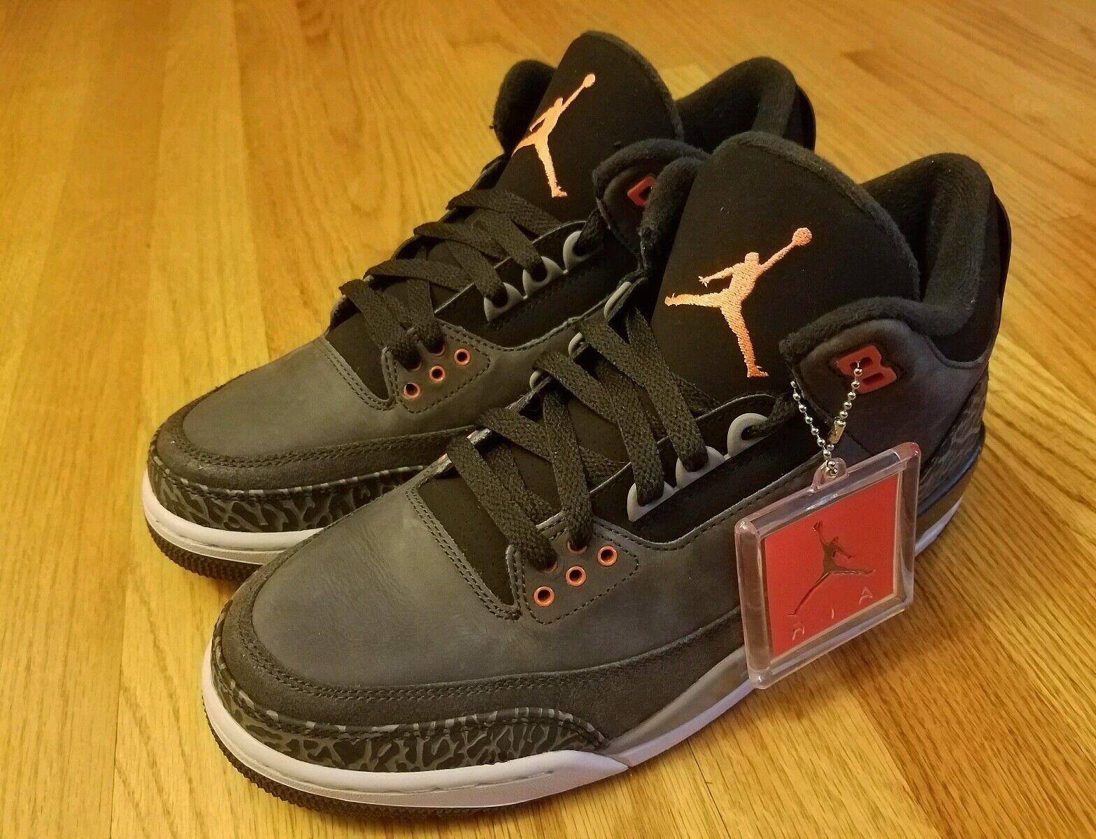 Air Jordan 3 Fear Retro Nike O.G 1,2,4,5,6,7,8,9,10,11 Banned Supreme