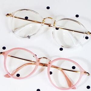 HOT-Geek-Nerd-Retro-Costume-Retro-Round-Large-Metal-Frame-Clear-Lens-Eye-Glasses