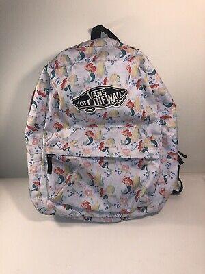 Vans x Disney Ariel The Little Mermaid Backpack BookBag Pockets 2014 RARE HTF | eBay