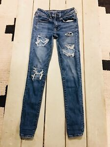 AE-AMERICAN-EAGLE-SUPER-JEGGING-NEXT-LEVEL-STRETCH-WOMENS-JEANS-SIZE-6-L