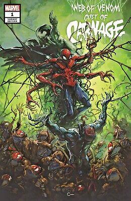 Web of Venom Cult of Carnage #1 Salvador Larocco Trade and Variant Cover