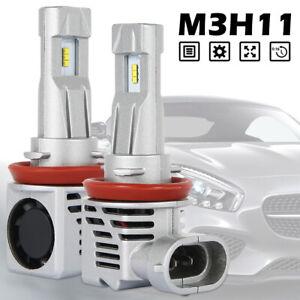 H8-H11-LED-Kit-conversion-d-039-ampoulephare-antibrouillard-55W-Phare-6000LM-6000K