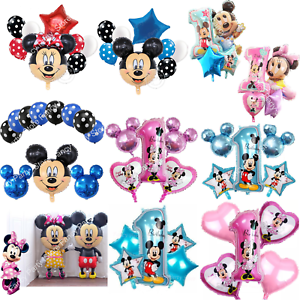 Disney-Mickey-Minnie-Mouse-Birthday-Foil-Latex-Balloons-1st-Birthday-Baby-Shower