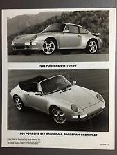 1999 Porsche 911 Carrera 4 Coupe B/&W Press PCNA Issued Photo RARE! Awesome L@@K