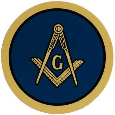 Vintage Mason Decal Masonic Spokane Washington Lindgren Turner RARE Sticker