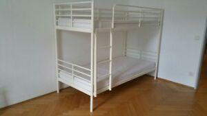 Ikea Etagenbett Weiß : SvÄrta ikea hochbett etagenbett in weiss metall 90x200 cm ebay