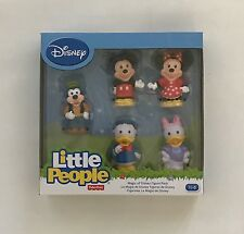 NIB Fisher Price Little People Disney Mickey Mouse 5 Figure Pack - Minnie, Daisy