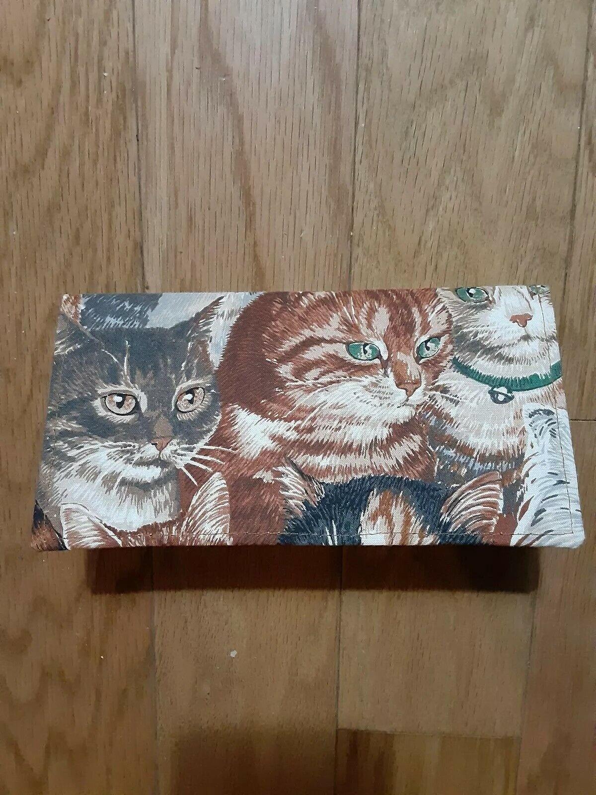 Checkbook Cover Kitty Cats Handmade